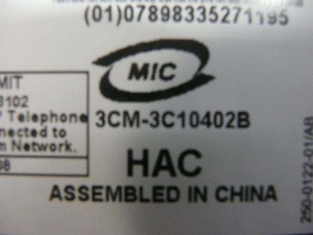 3102 (3C10402B) 3COM image