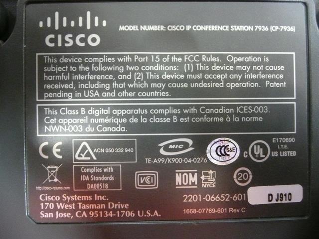 CP-7936 Cisco image