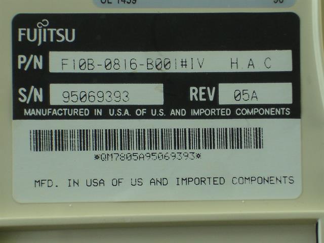 F10B-0816-B001 - Ivory Fujitsu image