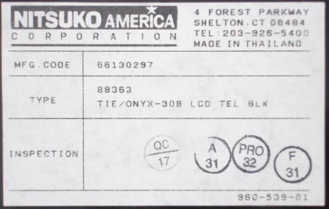 88363 (B Stock) NEC - Nitsuko - Tie image
