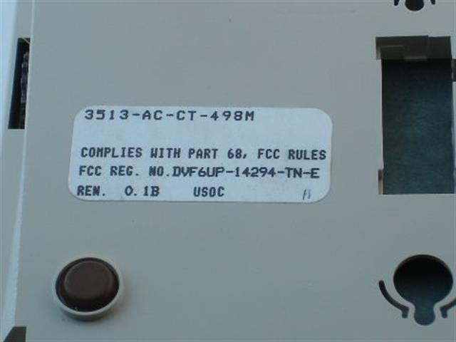 3513-AC-CT-498M Comdial image