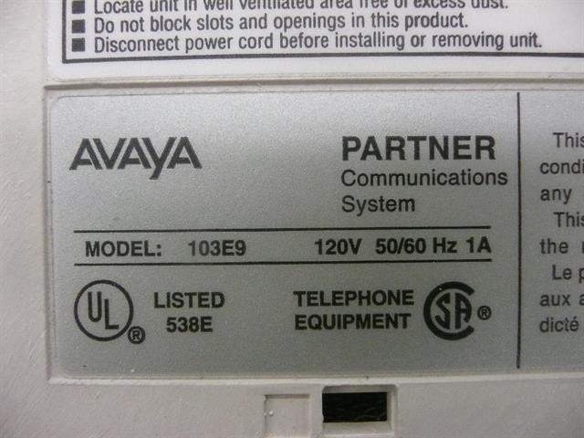 103E9 (106917933) AT&T/Lucent/Avaya image