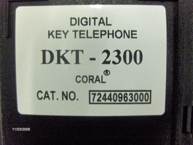 DKT2300 - 72440963000 - V5 Tadiran image