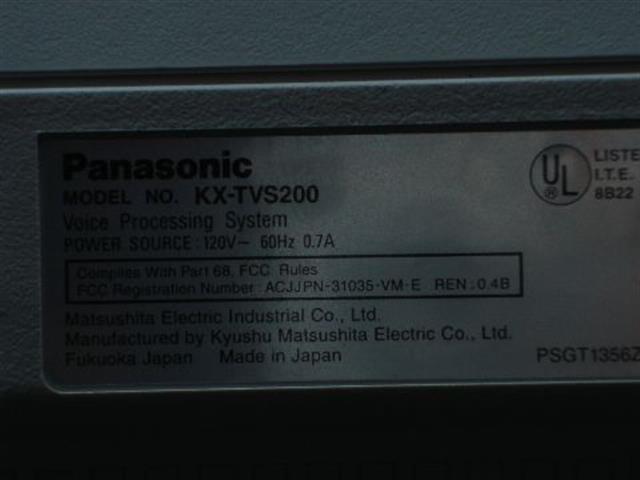 KX-TVS200 Panasonic image
