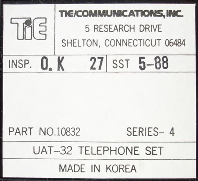 Tie 10832 - UAT-32 Phone image