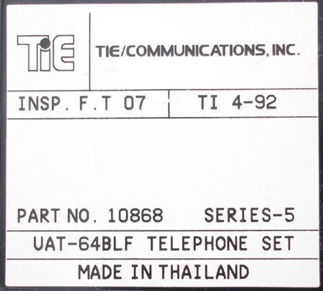 10868 - UAT-64 BLF Tie image