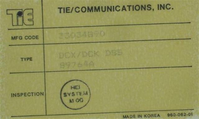 Tie 89764A Console image