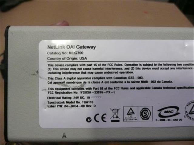MOG700 Spectralink / Netlink image