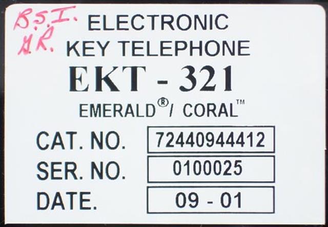 EKT321 - 440944412 - Black Tadiran image
