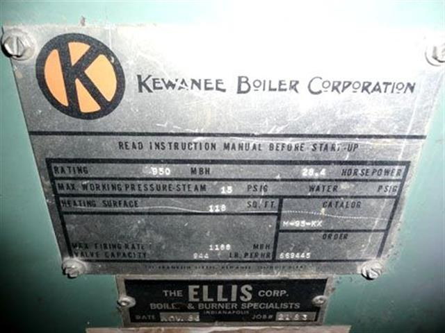 M-95-KX Firebox S/N RO710 Kewanee image