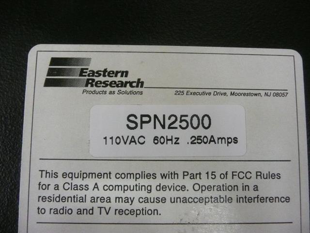 SPN2500 Eastern Research image
