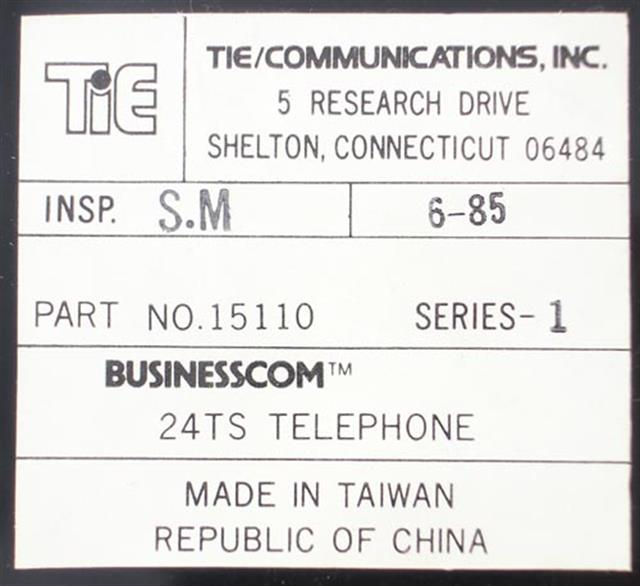 B-Stock Tie BusinessCom 24TS 15110 Electronic Telehone image