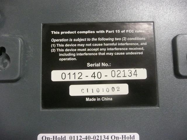 0112-40-02134 (NIB) On-Hold  image