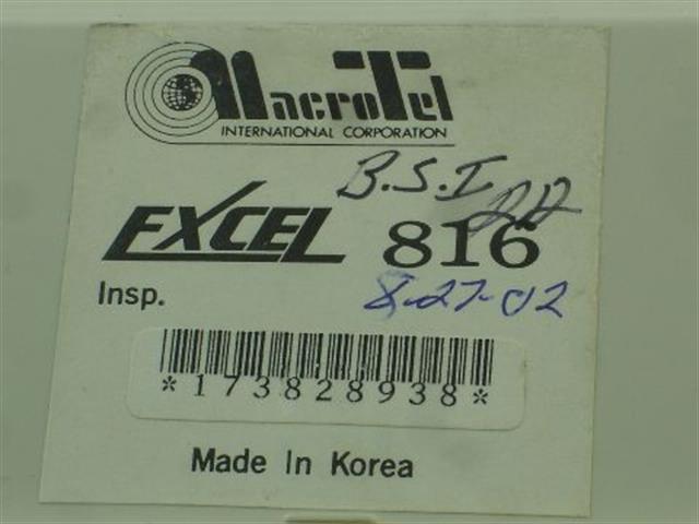 2208005E - 816 (B-Stock) Macrotel image