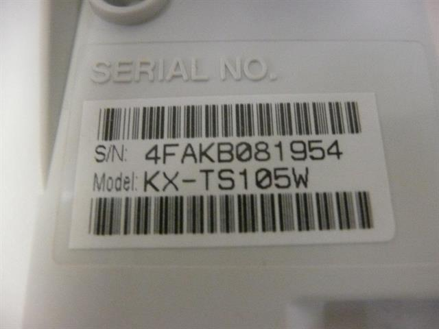 KX-TS105W Panasonic image