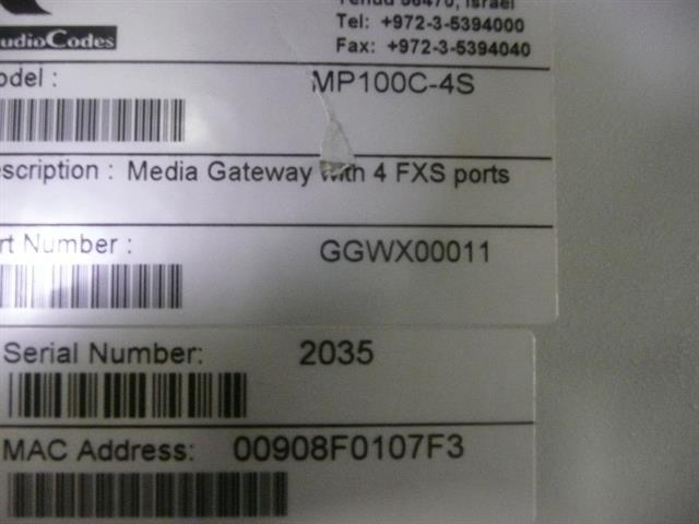 GGWX00011 AudioCodes image