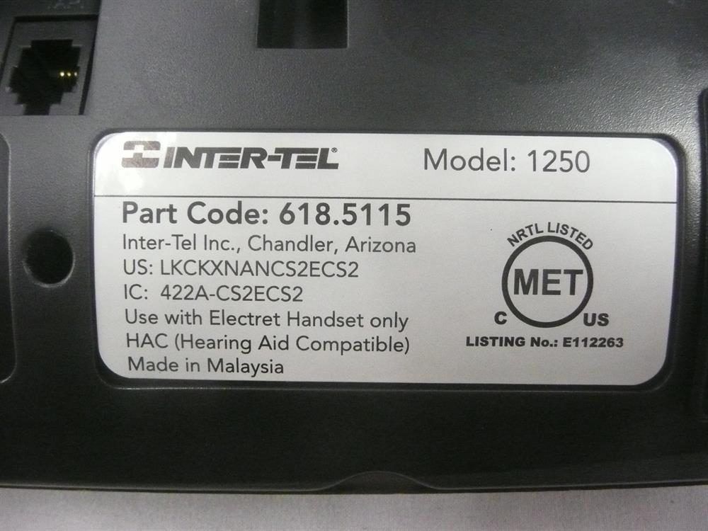 4110 / 1250 (618.5115 /  LR5829.06200 / 51012939) Inter-Tel Encore CX / image