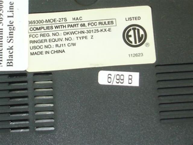 ITT Cortelco eOn 369300-MOE-27S Phone image