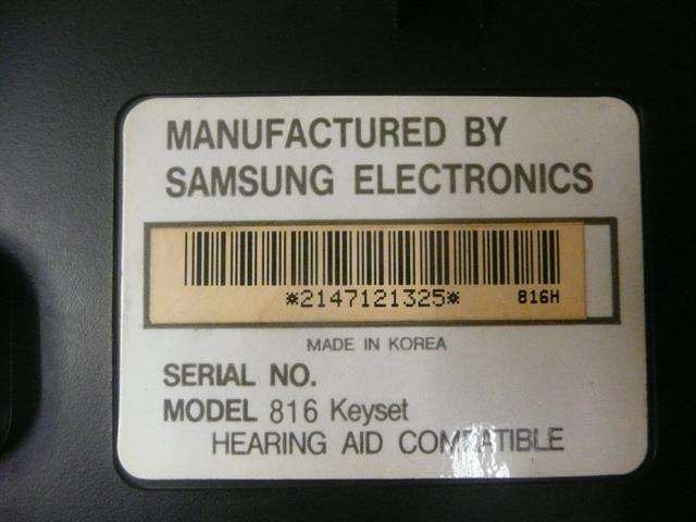816 STD 16B Samsung image