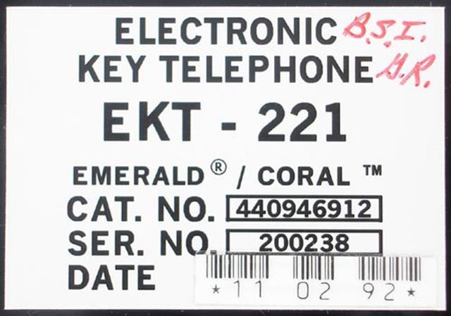 EKT221 - 440946912 (B Stock) Lg. Display Tadiran image