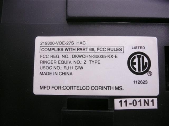 219300-VOE-27S ITT Cortelco image