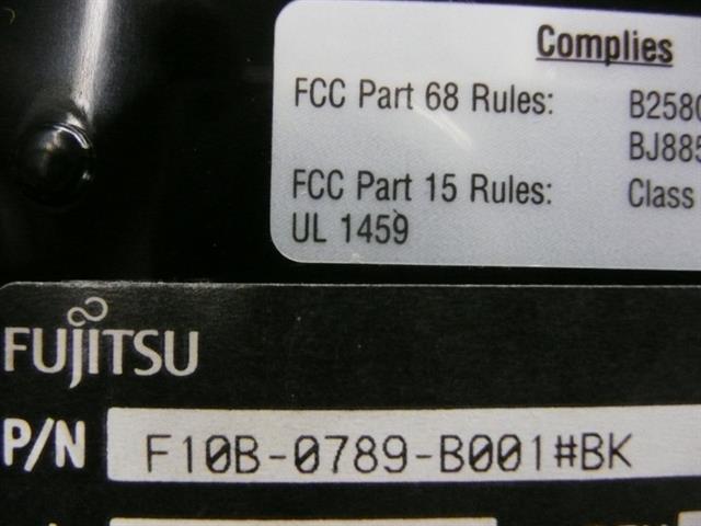 F10B-0789-B001 - Black Fujitsu image