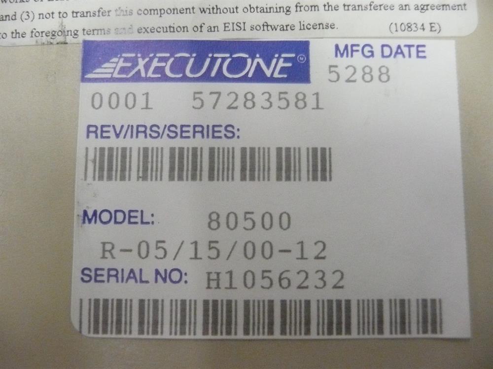 80500  Executone- Isoetec image