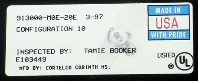 913000-MOE-20E Black Small Display ITT Cortelco eOn image