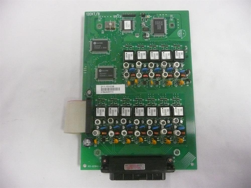 Tadiran Emerald ICE 12EKT/B 72429211185 (612-021948-A) 12 Port Digital Station Circuit Card image