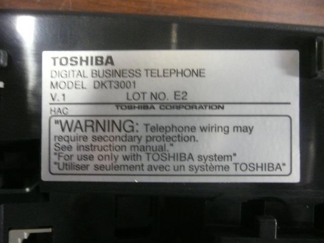 DKT3001 Toshiba image
