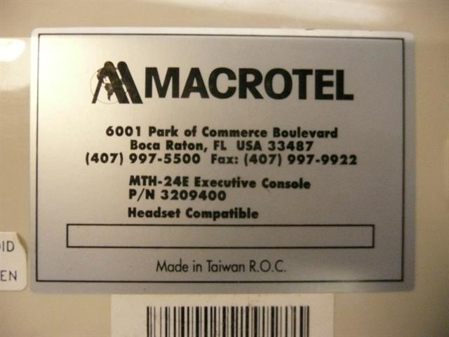 3209400 - MTH-24E Macrotel image