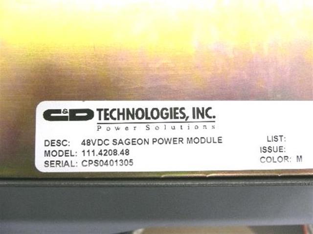 111.4208.48 C&D - C and D Technologies Inc image