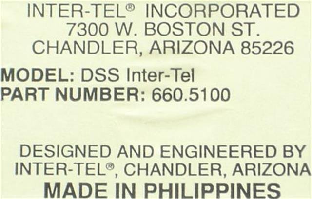 660.5100 Inter-Tel image