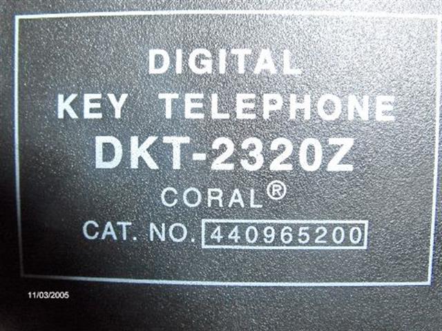DKT2320Z - 72440965200 - V5 Tadiran image
