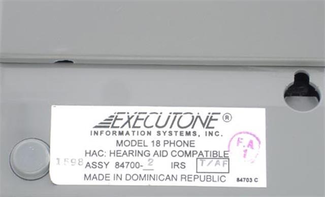 84700-2 (M18) Executone- Isoetec image