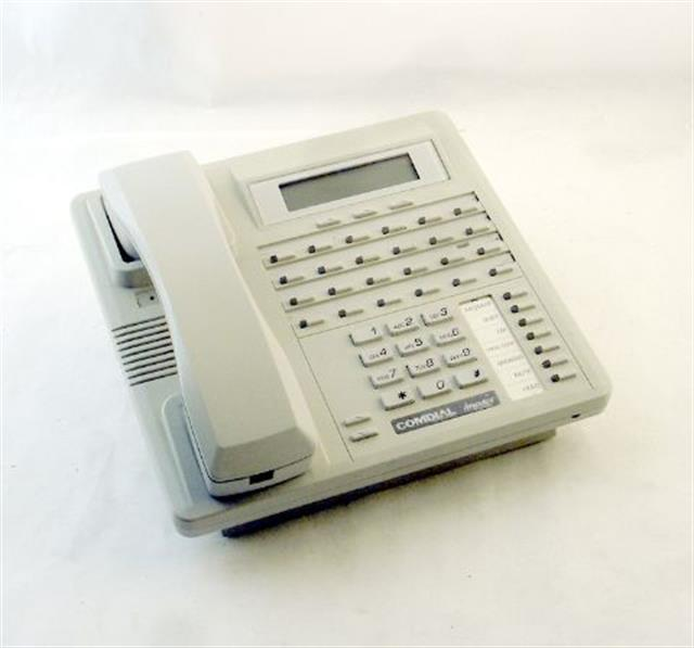 Comdial Impact SCS 8324F-PT Platinum Grey 24 Button Digital Telephone with Full Duplex Speakerphone and Display image