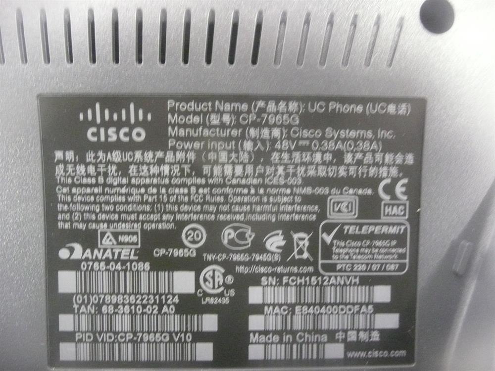 CP-7965G Cisco image