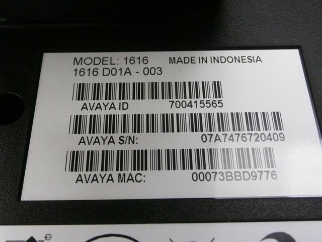 1616 (700415565 / 700450190) Avaya image