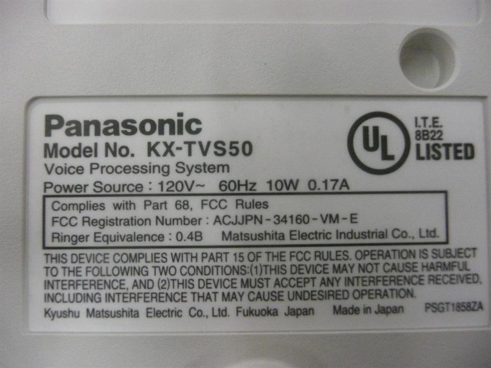 KX-TVS50 Panasonic image