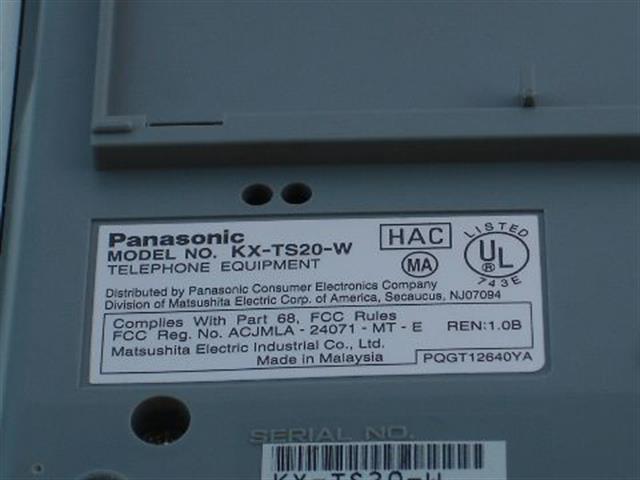 KX-TS20-W Panasonic image