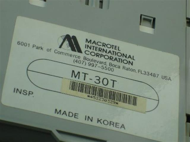 MT-30T (B Stock) Macrotel image