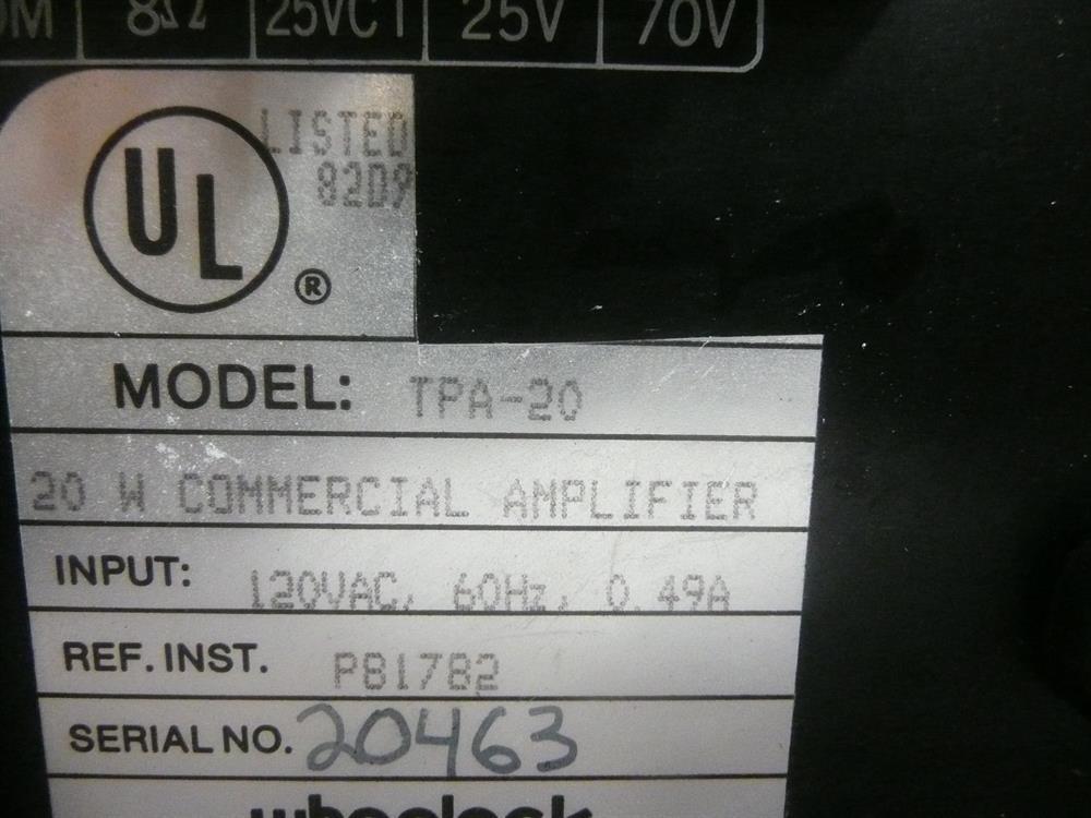 TPA-20 Wheelock image
