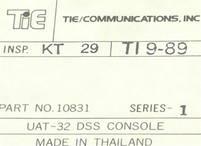 10831 - UAT-32 DSS (NIB) Tie image