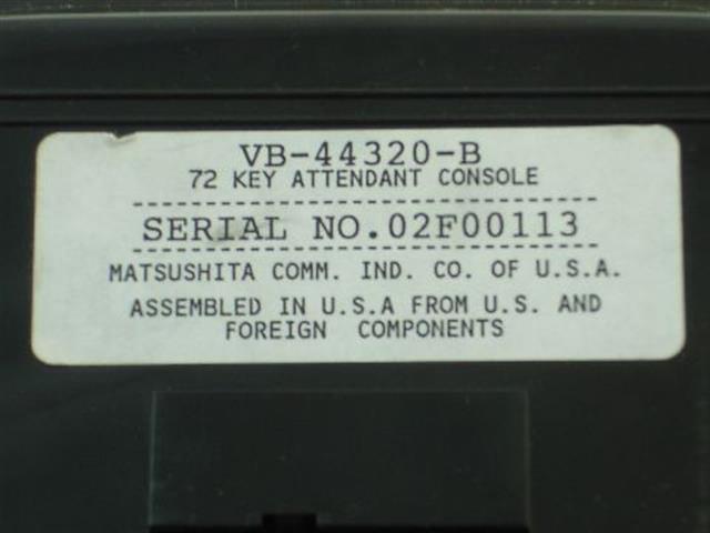 VB-44320-B Panasonic image