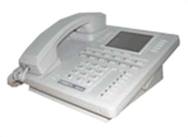 Comdial Impact SCS 8412F-PT Platinum Grey 12 Button Digital Telephone with Full Duplex Speakerphone and Large Screen Display image