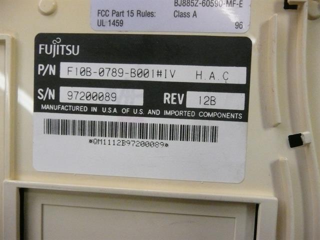 F10B-0789-B001 - Ivory Fujitsu image