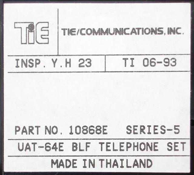 10868E - UAT-64E BLF Tie image