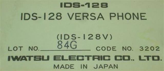 IDS-128V - 3203 Iwatsu image