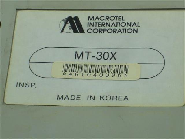 MT-30X (B Stock) Macrotel image