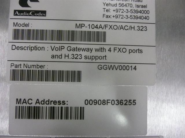 GGWV00014 AudioCodes image
